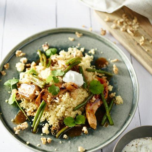 Honingkip met couscous