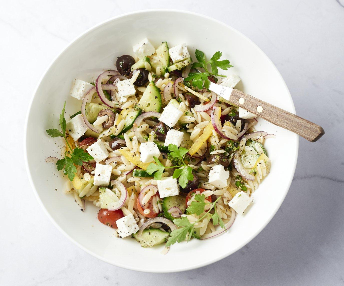 Orzo salade met feta