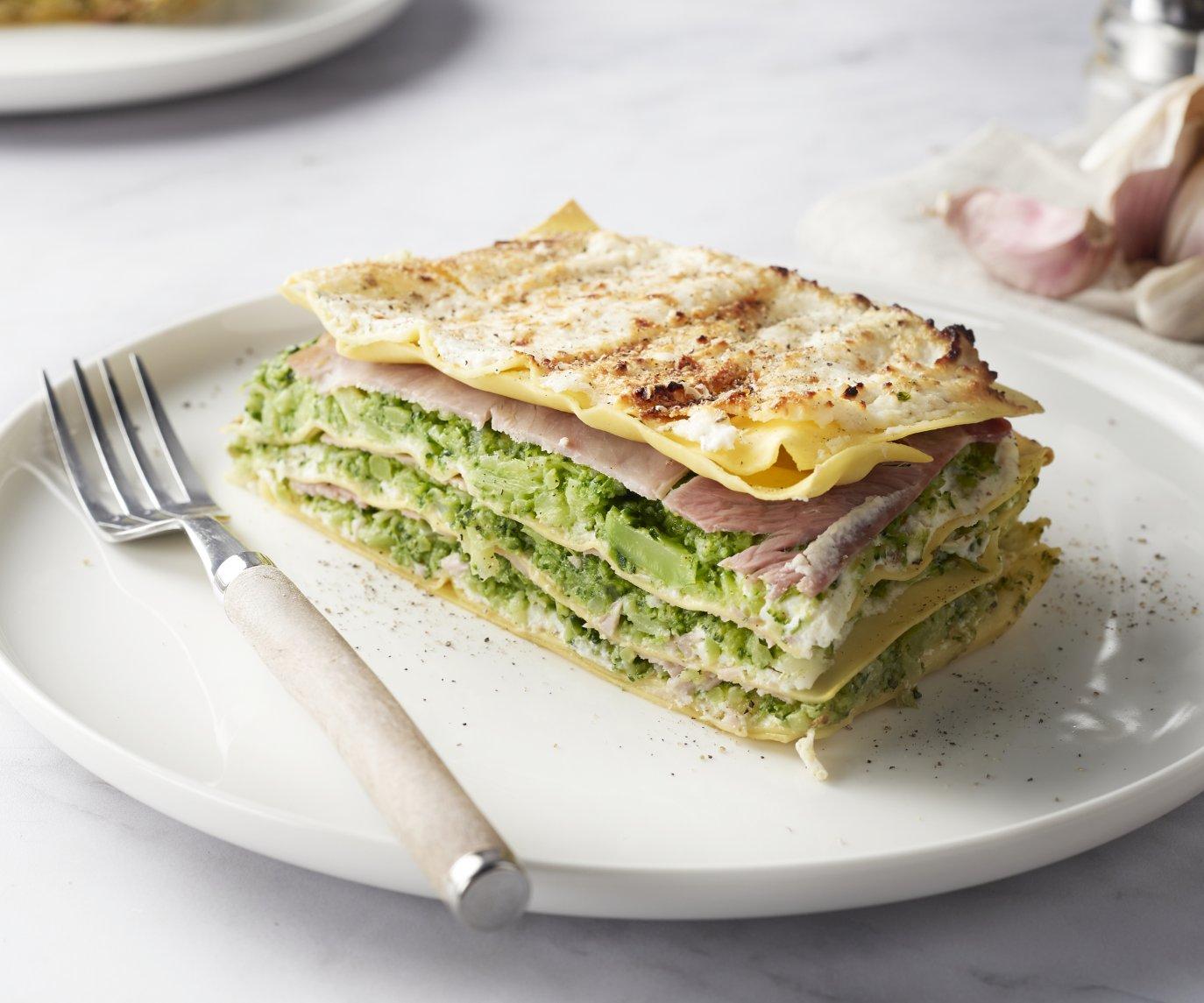 Lasagne met ham en broccoli