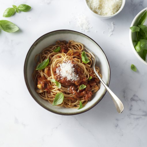 Spaghetti met veggie bolognaise