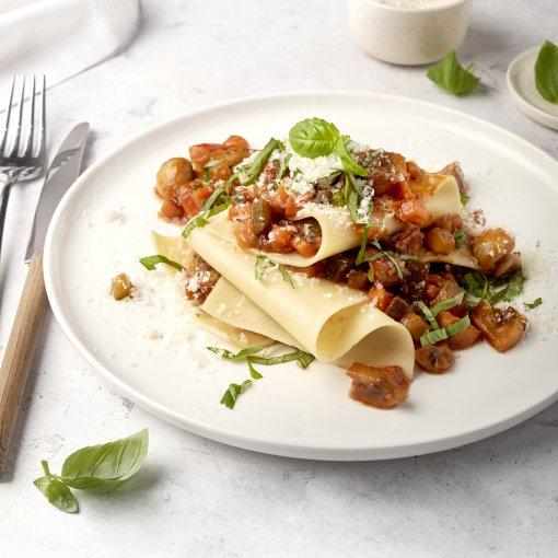 Snelle open veggie lasagne