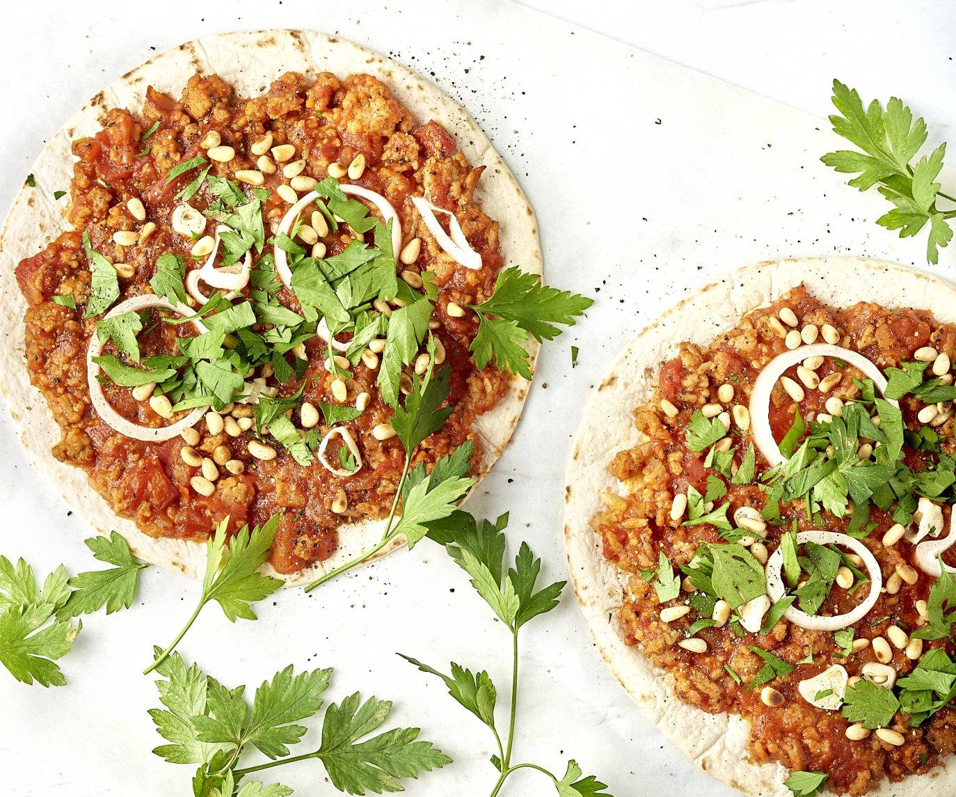 Turkse tortizza met gehakt