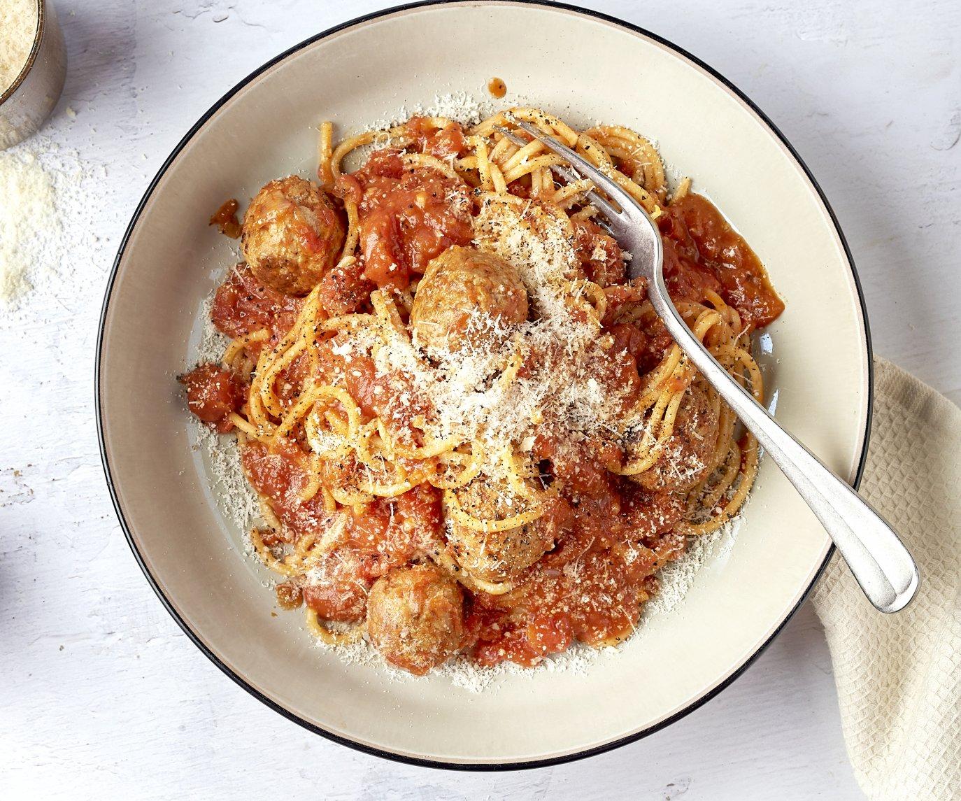 Snelle spaghetti met balletjes