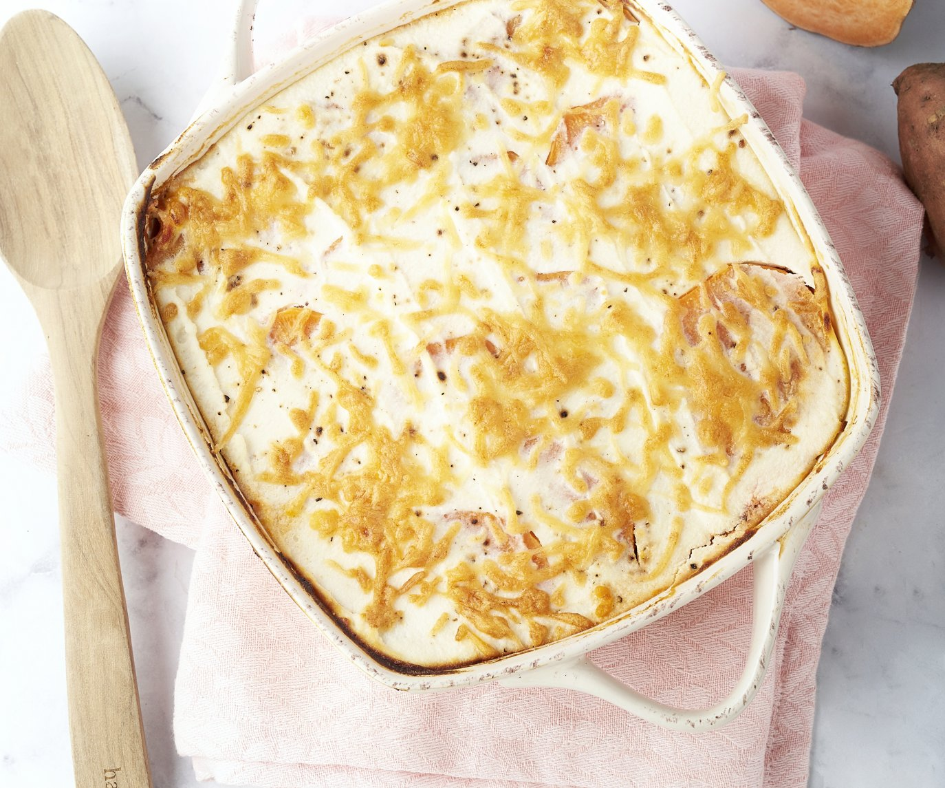 Moussaka met zoete aardappel en ricotta
