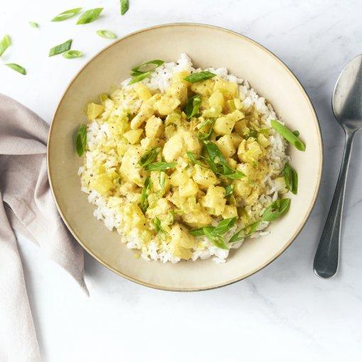Curry met kip en ananas
