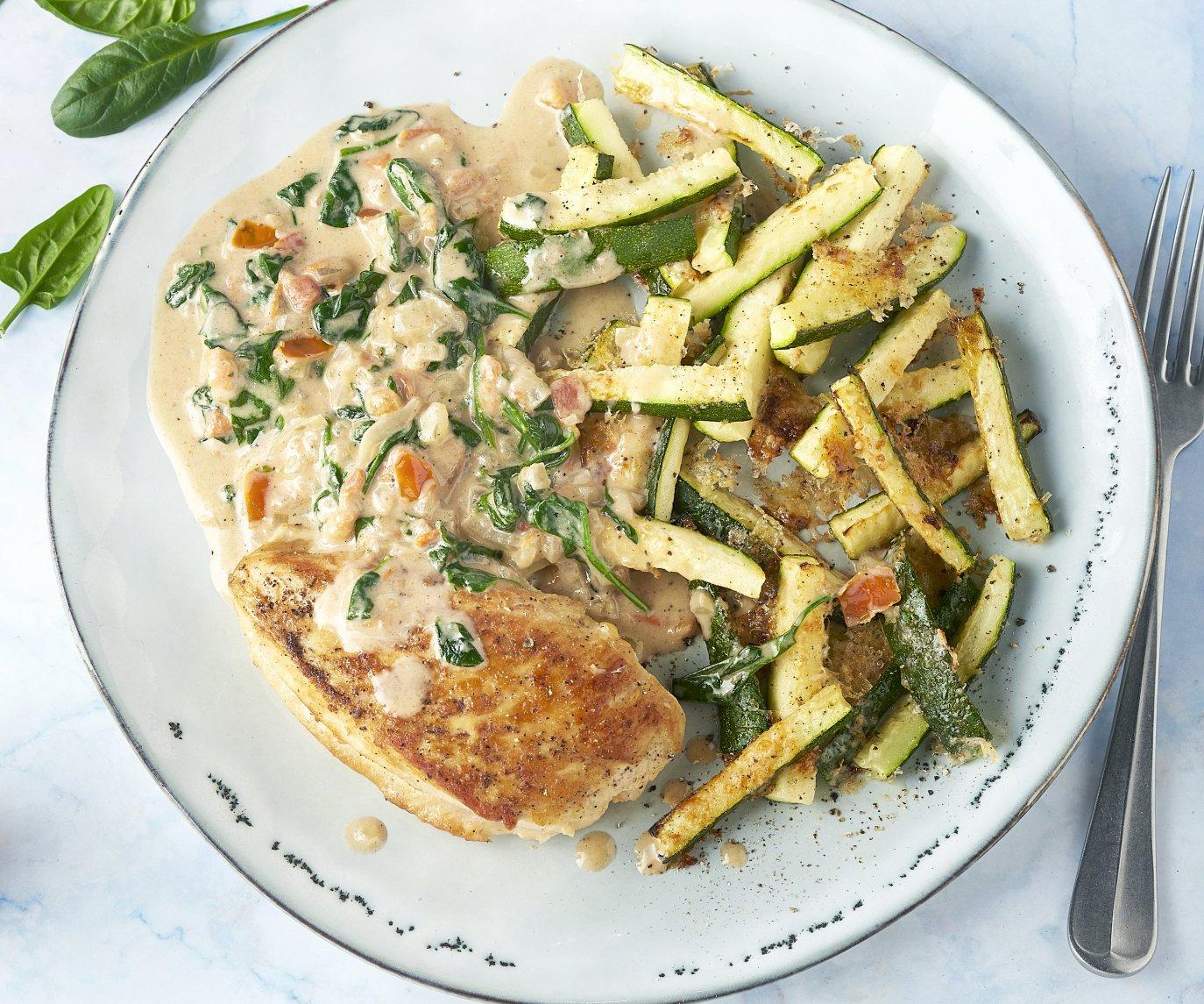 Toscaanse kip met courgettefrietjes